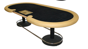 DOUBLE PEDESTAL POKER TABLE BASE