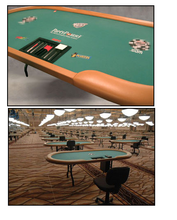 Load image into Gallery viewer, WSOP Tournament Poker table with heavy duty folding leg system
