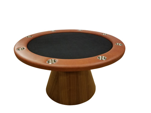 Round Poker table with Chess board Veneer Dining top