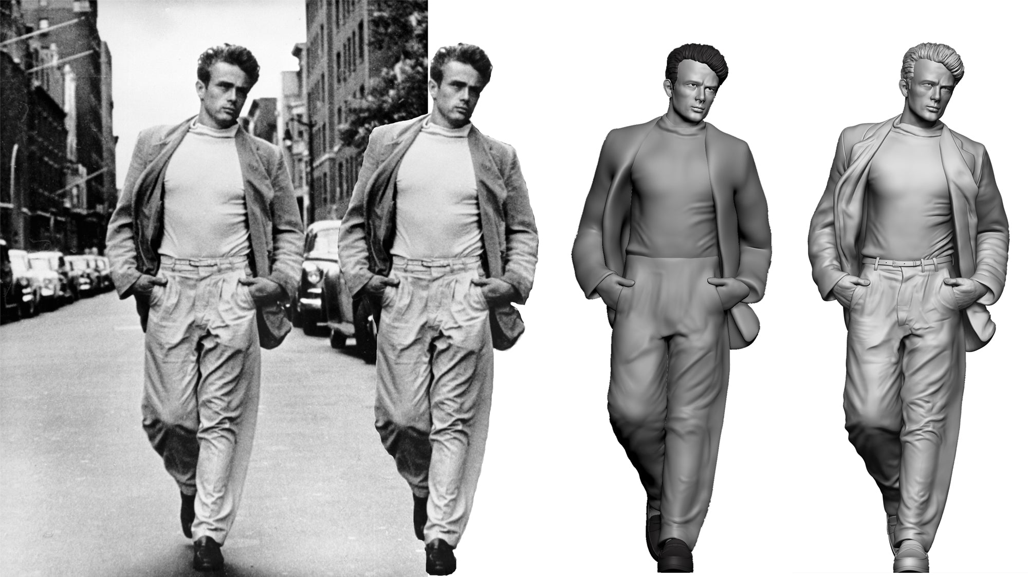 James Dean 3D-Star Statues