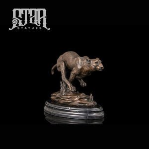 Cheetah Chasing Prey | Animal and Wildlife Sculpture | Bronze Statue - Star Statues