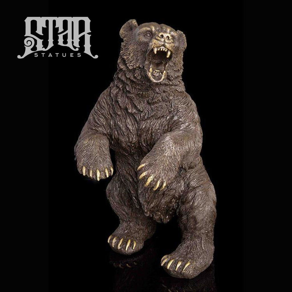 Grizzly Bear Standing | Animal and Wildlife Sculpture | Bronze Statue - Star Statues