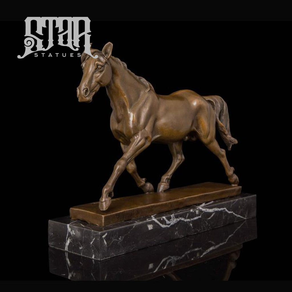 Horse Trotting | Animal and Wildlife Sculpture | Bronze Statue - Star Statues
