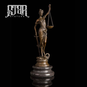 Lady Justice Sculpture | Bronze Statue - Star Statues