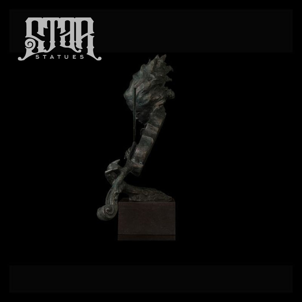 Lady Playing Violin | Abstract Sculpture | Bronze Statue - Star Statues