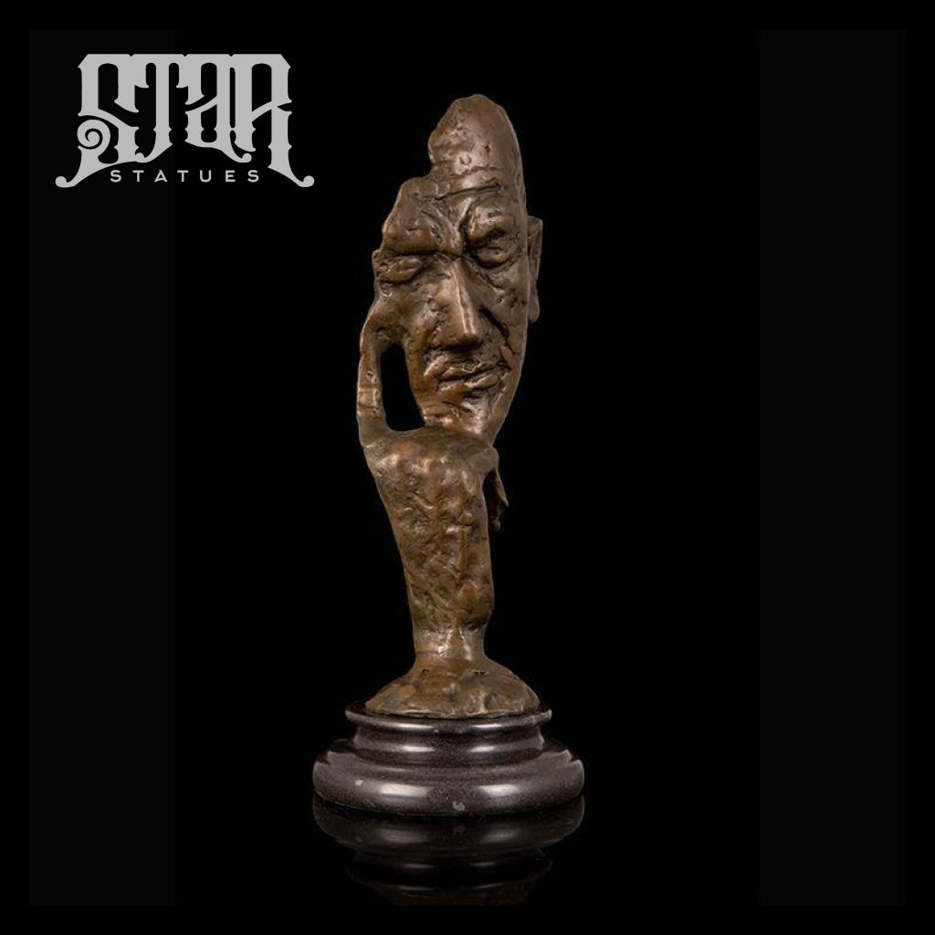 Thinker Head Bust | Abstract Sculpture | Bronze Statue - Star Statues