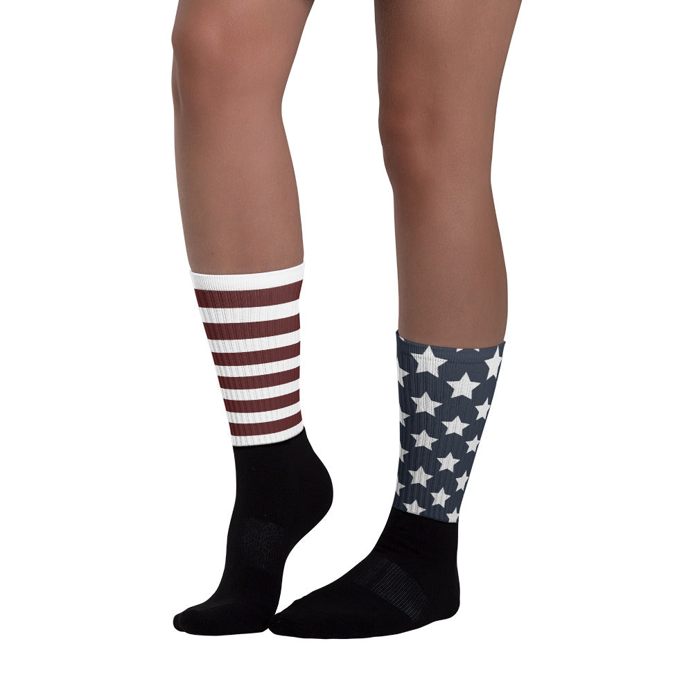 Stars & Stripes Black Foot Sublimated Socks