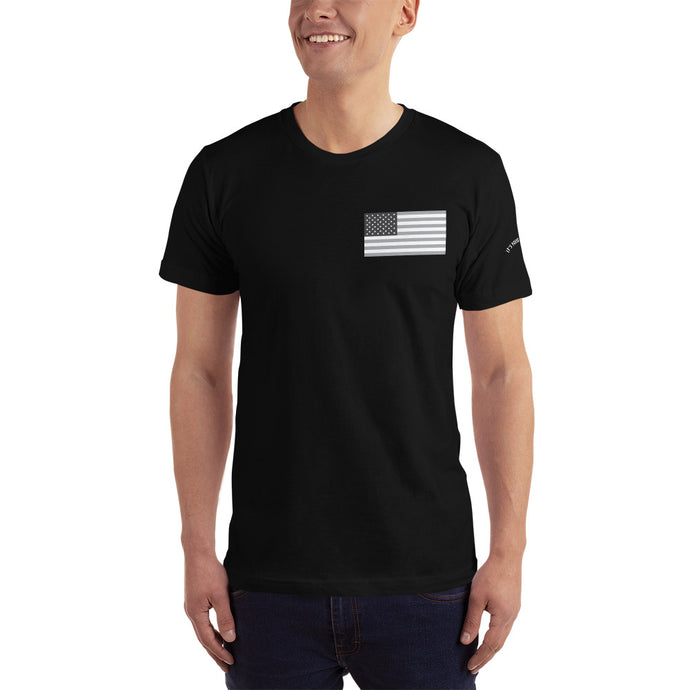 Men's Monochrome US Flag T-Shirt -