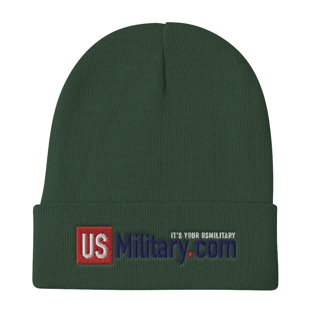 USMilitary.com Embroidered Beanie | Cold Weather Hats