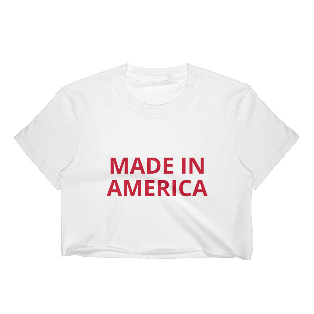 MADE IN AMERICA Women's Crop Top