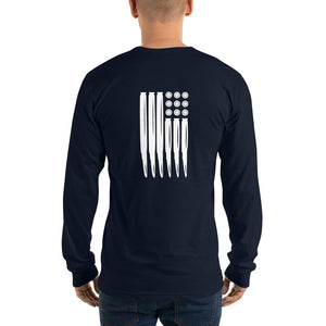 Long sleeve USM Bullet Flag t-shirt