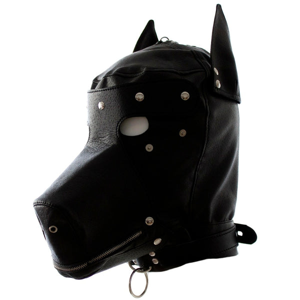 Leather Fetish Dog Headgear - Knight For You