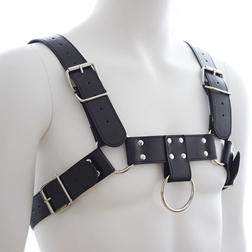 Sexy Leather Chest Harness - Knight For You