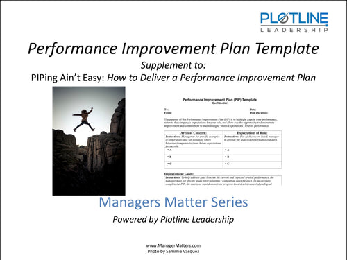 Performance Improvement Plan - Template