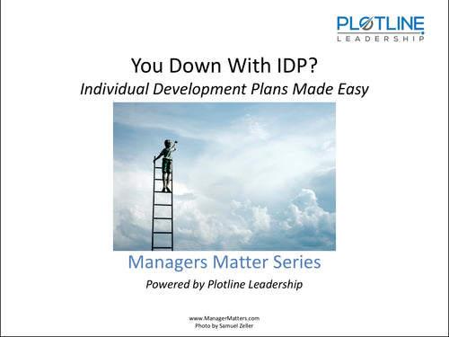 You Down With IDP? Individual Development Plans Made Easy