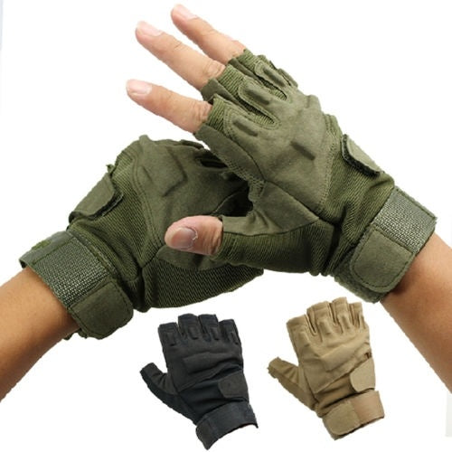 Durable Outdoor Sport Fingerless Military Tactical Airsoft Hunting Cycling Glove
