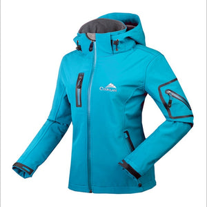 Winter Water Resistant waterproof Breathable Softshell Jacket Women Windbreaker Outdoor sport For Climing Hiking camping