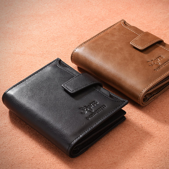 Vintage Men PU Leather Short Wallets.