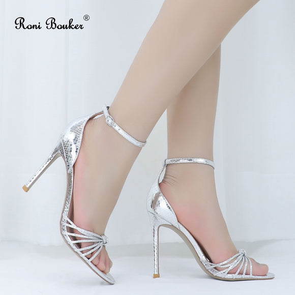 Female Party Wedding Peep Toes Buckle Strap Summer Shoes.