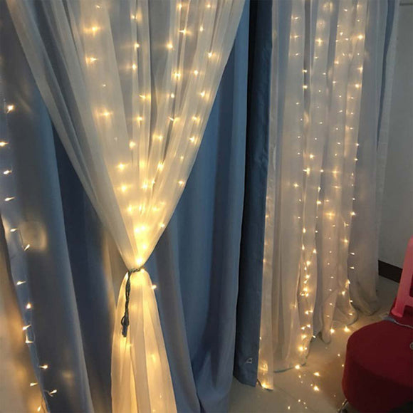 Home  Garden Lawn Festival decoration LED light string Waterproof Fairy Curtain Lights for Wedding Christmas New year Birthday