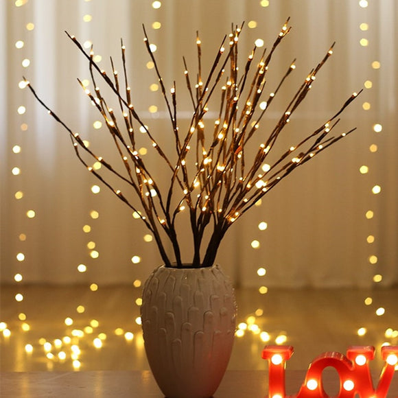 LED Willow Branch Lamp Battery Powered Decorative Lights Tall Vase Filler Willow Twig Lighted Branch For Home Decoration