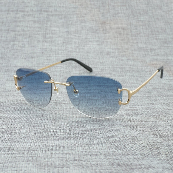 Vintage Rimless Sunglasses .