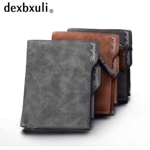 Men Soft Leather wallet with removable card slots.