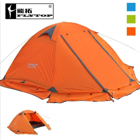 Waterproof Tent Ultralight 2 Person- Tourist  Double Layers Aluminum Rod Camping Tent