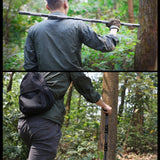 Trekking Pole Multi-Function Self-Defense Stick T Shape Four Sticks Six Sticks Car Tactical Stick Outdoor Products