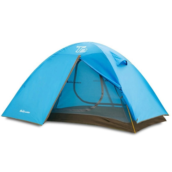 waterproof outdoor tent 1-2person Aluminum alloy rod waterproof breathable tent for hiking camping trekking