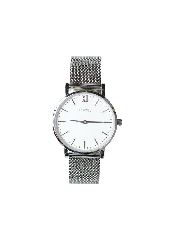 Mini Mesh Minimalist 42mm Silver