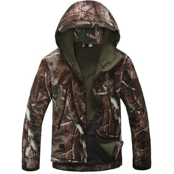 Tactical Softshell Camouflage Outdoors Jacket Men.