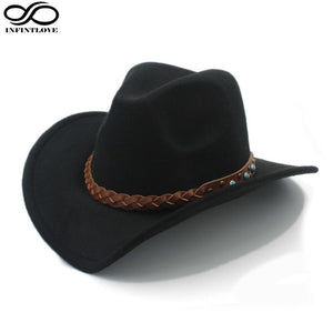 Wool Felt Western Cowboy Hat For Women & Men.
