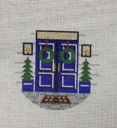 KCD1147 Christmas Front Door Round