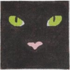283 Black Cat Square with Stitch Guide