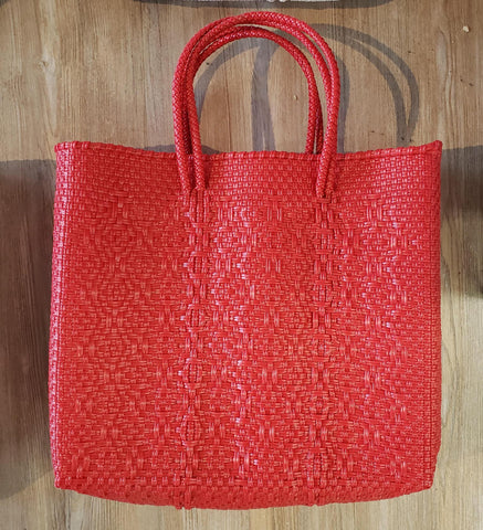 Letra small red solid bag
