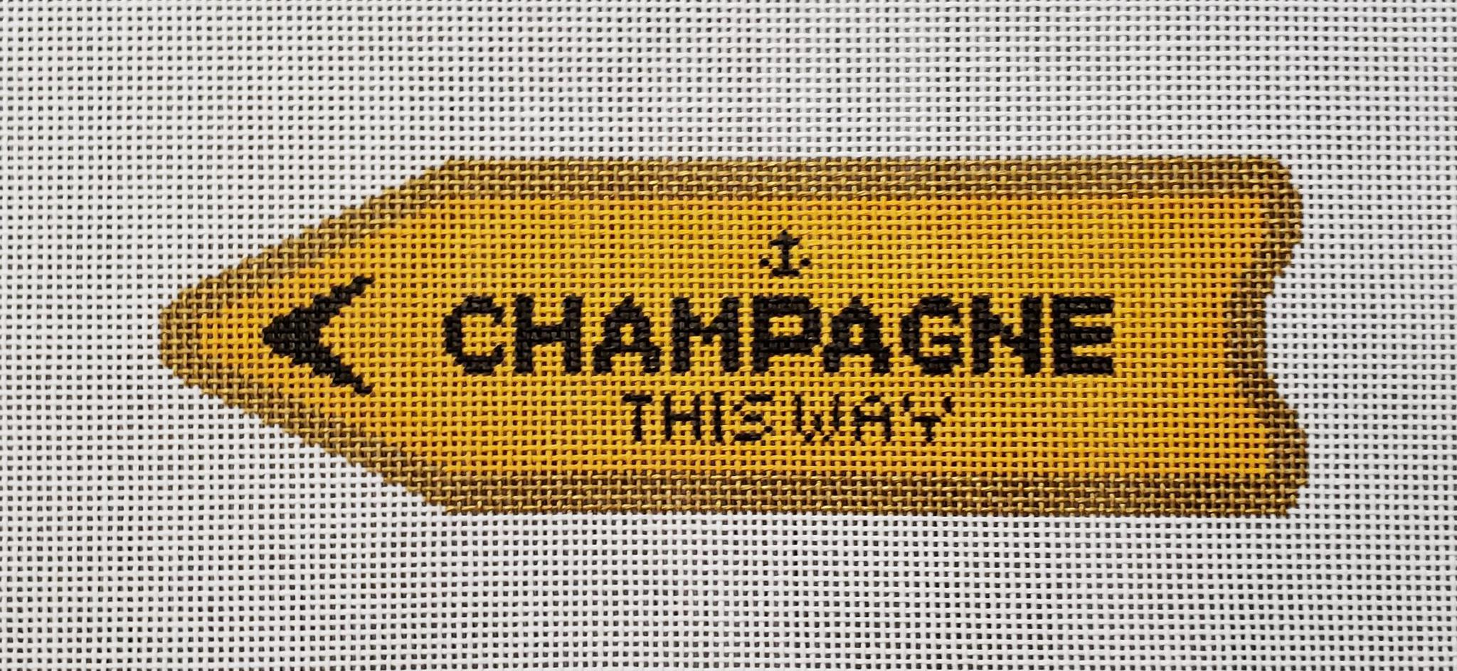 CLV001-0 Champagne This Way Orange