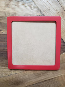 5x5 Square Frame Red