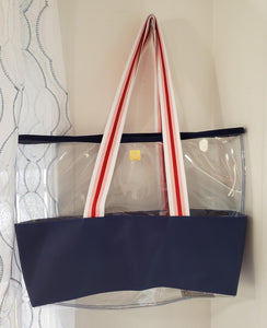 Navy/Pink/Red/White Ridgemont Tote