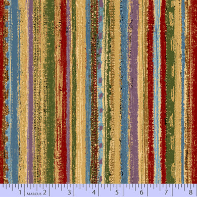 MARCUS FABRICS THREAD THE NEEDLE LAURA BERRINGER PAINTED STRIPE MULTI 0832-0150