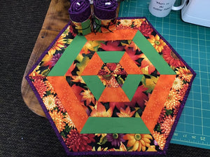 60 degree Table Topper Free Pattern