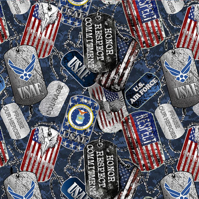 MILITARY Air Force Dog Tags -1254 AF Cotton