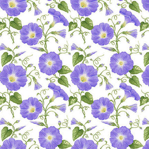 Hydrangea Birdsong Morning Glory  by Jane Shasky for Henry Glass & Co