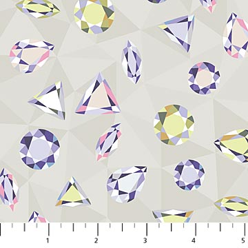Grey Facets Cotton Sewing Fabric