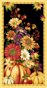 Autumn Time - Pumpkin, Sunflower, Panel