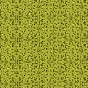 Autumn Time - Green Tonal Print