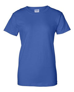J & J Lawn Care 100% Cotton Ladies Short Sleeve T