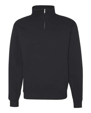 L5 - Nublend® Cadet Collar Quarter-Zip Sweatshirt - Embroidered