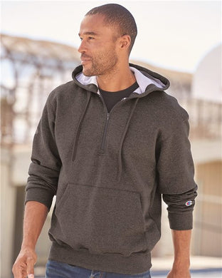 L5 - Champion - Cotton Max Hooded Quarter-Zip Sweatshirt - Embroidered
