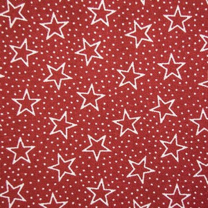 "Pre Cut 108"" -108"" Wide Red Star Backing BD-49522-A03"